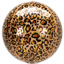 "Animalz Balloon - Animalz Leopard Print Orbz (15"") 1pc"